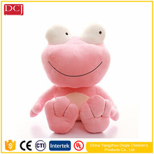 2017 hot animal shape big eyes frog with sweet smile toys for baby doll toys