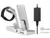 3 in 1 48W MFi Power Docking Station for iPhone Aluminum Extra Dual USB Port