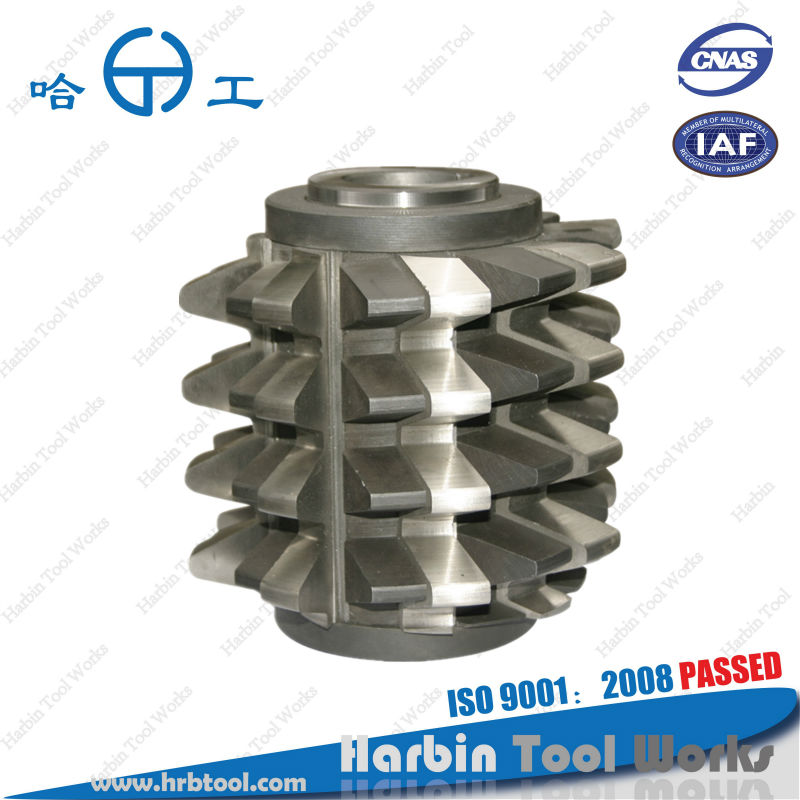 ISO9001, Balzers coating, gear hobbing cutter, Inserted blade gear hob,