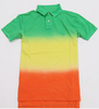 Custom two color polo shirt tie dye shirt for men