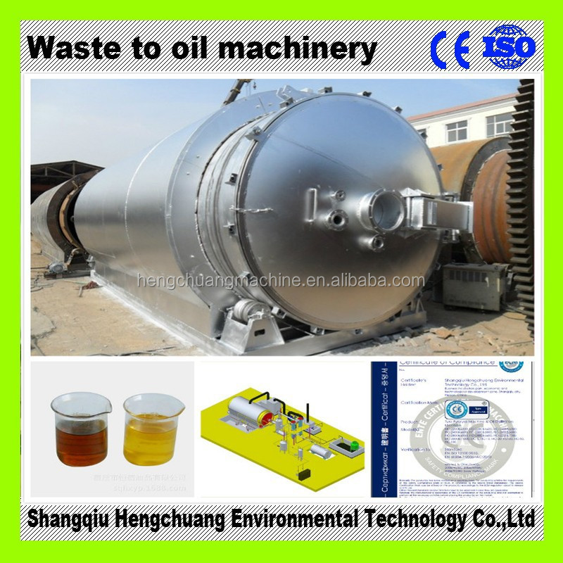 safety rubber/tire pyrolysis machine with 50% high oil output with CE certificate