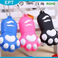 Dog Feet Shaped Disposable Special PVC USB Flash Drive 8GB 16GB