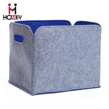 Design best selling durable Eco-friendly multipurpose large felt storage box free sample felt fabric storage box with hand
