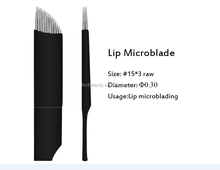 CE Sterilized Professional 45P MicroShading Semi Permanent Make Up Microblading Flexible Blades Needle For Eyebrows Tattoo