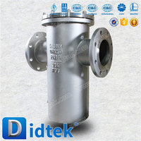 Didtek flanged Cast Steel industrial strainers basket strainer