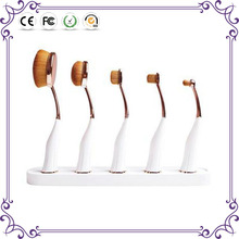 Makeup Artifact makeup brushes ! good 5/6 pcs rose gold magnet toothbrush oval makeup brush set cosmetic foundation brushes