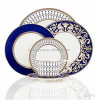 High grade fine bone china porcelain dinnerware with various decal