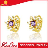 Wholesale cheap brass copper earring jewelry 18k gold color indian big hoop earrings wholesale