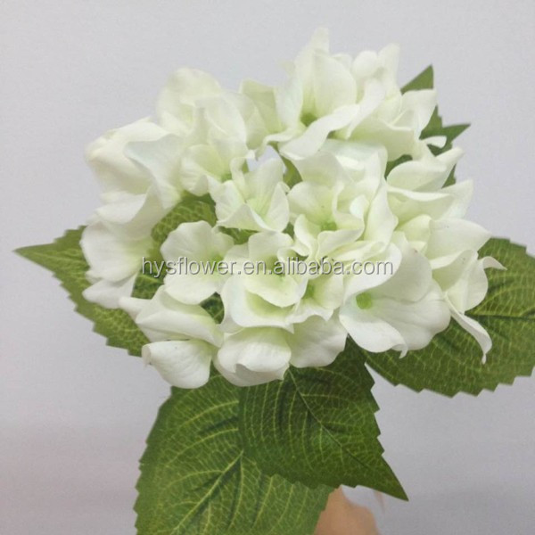 "16"" flores artificial party decor fabricfabric flower real touch hydrangea natural looking artificial flowers"