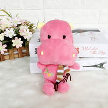 Handmade cheap custom plush animal hippo toy soft stuffed hippo toy with scarf