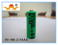 rechargeable NI-MH 2/3AAA 1.2V 250mAh battery