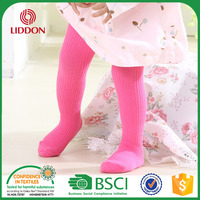 baby rib design plain white cotton tights cheap candy colored cotton tights