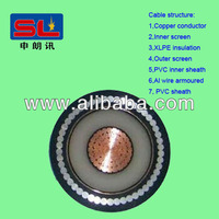 single core XLPE insulated armoured power cable