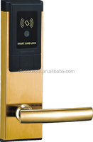 China good price high quality golden color hotel card key lock system