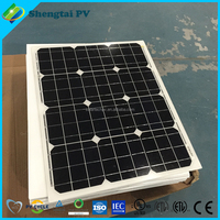 Suntek 100W high efficiency solar panel with white frame