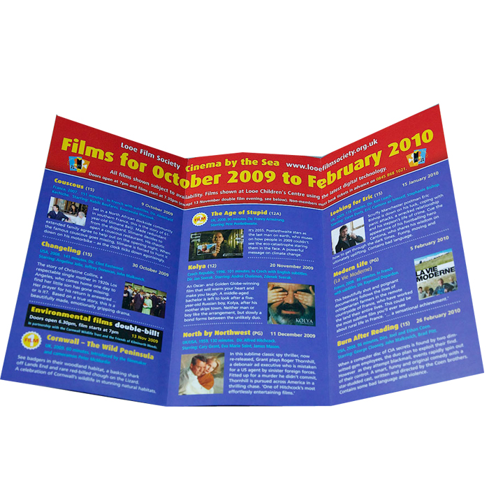 OEM service cheaper flyer printing in advanced machine