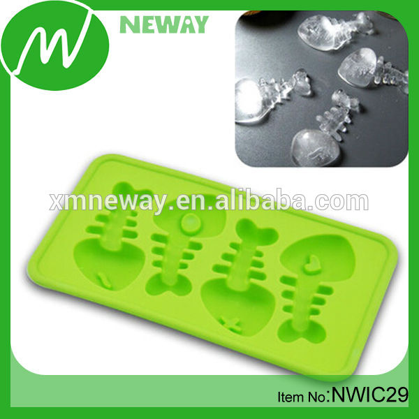 FDA Silicone Fish Bone Shape Ice Cream Mold