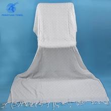 china wholesale luxury 100%cotton solid jacquard muslim islamic umrah hajj ihram towel clothes