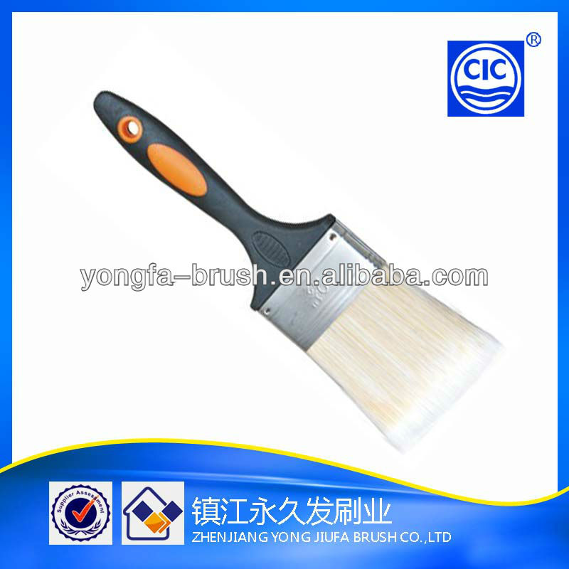 Good quality plastic and rubber handle tapered polyester soft rubber pattern decorative paint brush