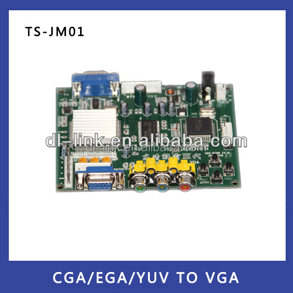 Hot sales!Factory supply!New Products Industrial Monitor Converter CGA/EGA/YUV to VGA Game Converter Board