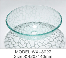 Waterfall Tempered Glass Vessel Sink Most Popular for Hotel Product