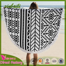 High Quality Custom Printed Cotton Large Round Beach Towel