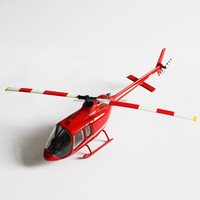 1:72 die cast scale Bell 505 toy helicopter model
