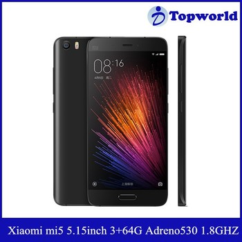 Hot Selling Original 5.15inch FHD Screen Qualcomm Snapdragon 820 Quad core 16MP Camera Xiaomi mi5 Smartphone