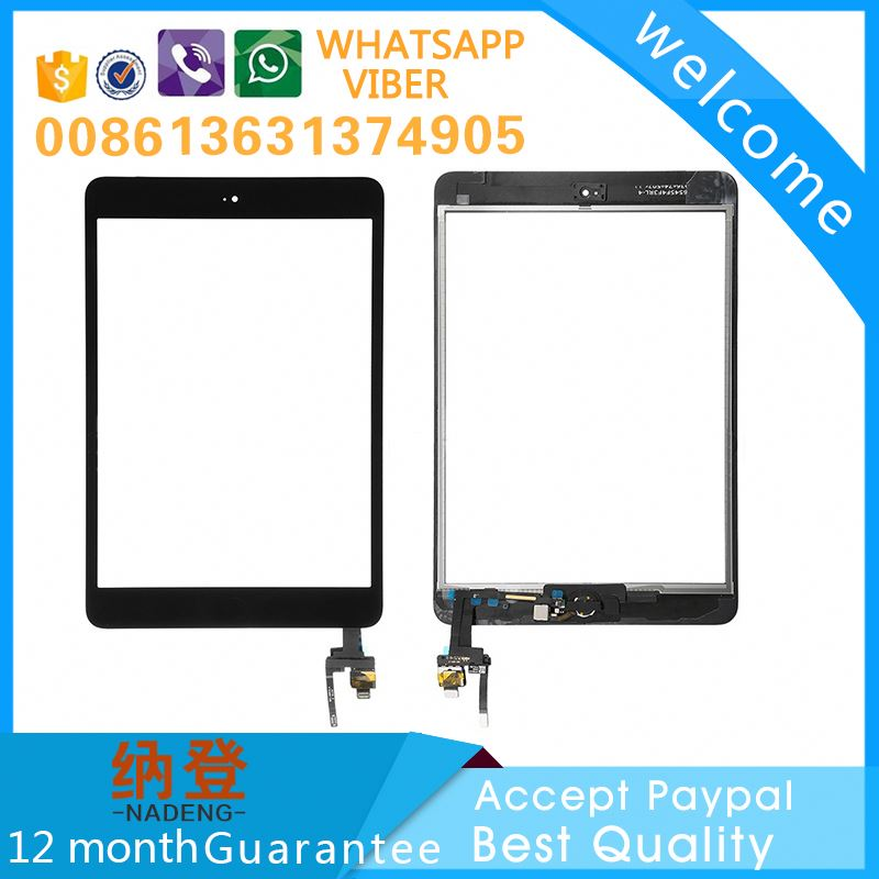 repair broken glass for ipad mini 3 touch glass digitizer full screen with original ic board with paypal