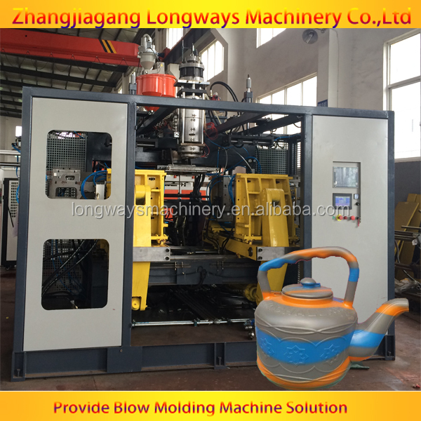 two color plastic kettle blowing machine factory/ blow moulding machine for HDPE kettle