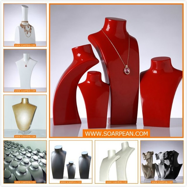High Glossy Neck Mannequin for Jewelry Display Stand
