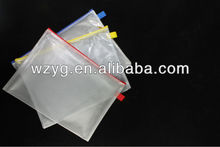 2013 Hot sales A4 transparent document mesh zipper bag
