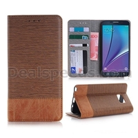 Splicing Color Wallet Style Side Flip PC+ PU Leather Case for Samsung Galaxy Note 5