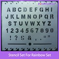 Novelty custom stencil set for rainbow art set,plastic stencil sets
