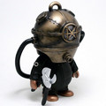 limited edition design vinyl toy, skull helmet designer vinyl figure, iron helmet new desgin vinyl toy