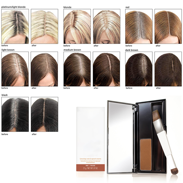Wholesale Waterproof Professional  Hair Root Cover Powder Temporary Hair Dye