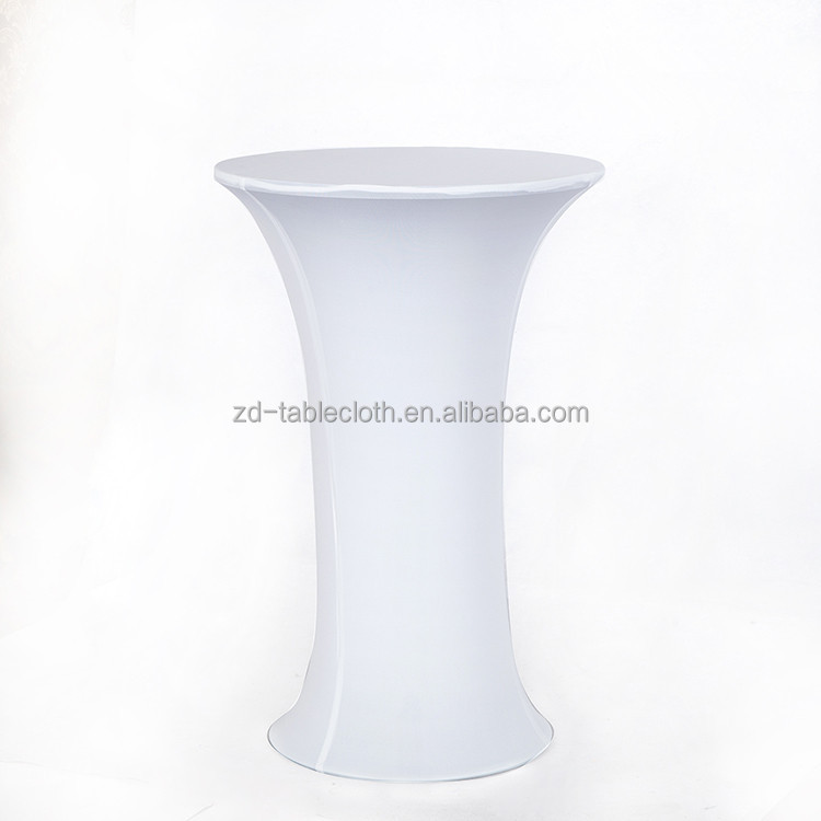 Wedding party Bar Bistro stretch white round spandex table cloth
