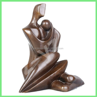 landscaping casting brass abstract sculpture of mother and child