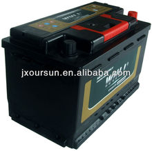 AUTO SPART PART 12 VOLTA Lead Acid Car Battery 58035MF 12V80AH WHLI