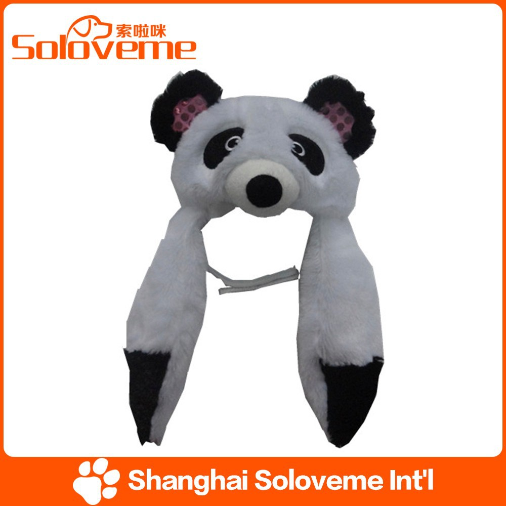 Factory Price Fashion Dog Panda Hats Pet Lovable Accessory Products