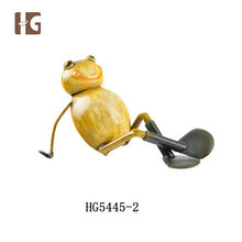 Relaxing Animal Metal Sculpture Frogs