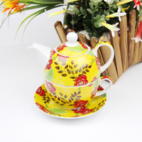 Wholesale flower pattern afternoon tea sets Fine bone china tea set