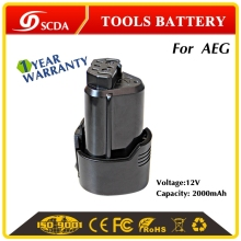 12V 2000mAh replacement Li-ion power tool battery for AEG L1215, L1215R