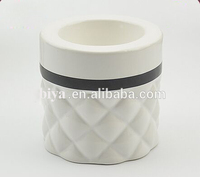 hotel ceramic images of candle stand with bump design and decal