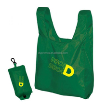 Customized OEM Polyester Eco Pouch Folding Shopping Tote Bag