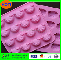 Cake Mold, Soap Mold Pig Head Mold Flexible Silicone Mould For Candy Chocolate