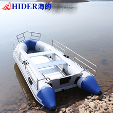 inflatable rib and pvc fishing boat with Stainless Steel Guard Bar for sale