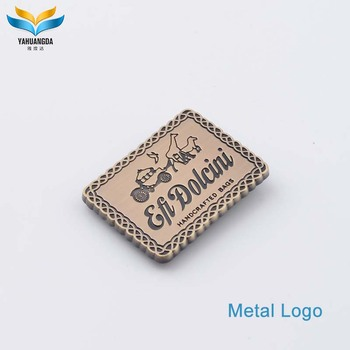 high quality custom metal logo emblem patches tags for clothing
