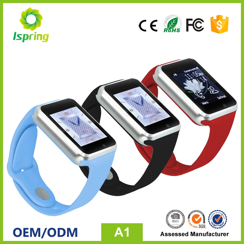 Touch screen gsm android smart watch,2G android smartwatch,phone calling support android watch