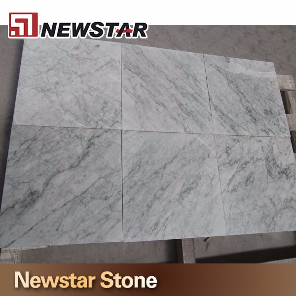Newstar 36x36 Bianco carrera marble slab hotel coffee bar dining modern round table top